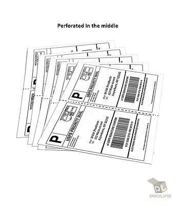 1000 2000 4000 shipping labels 8 5 x 5 5 inch white blank half page