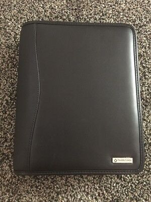 Franklin Covey Zippered Black Leather Classic Binder