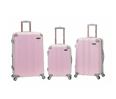 Rockland Fox Luggage 3 Pc Sonic Abs Upright Set F190-MINT Luggage Bag NEW