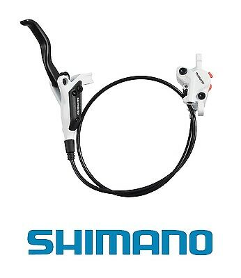 Shimano M445 Hydraulic Disc Brake - RIGHT HAND REAR - 1400mm Hose - White