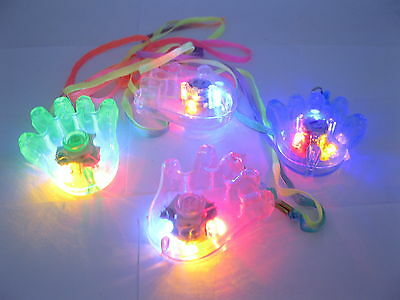 60 Flashing Plastic Hand Necklaces For Disco
