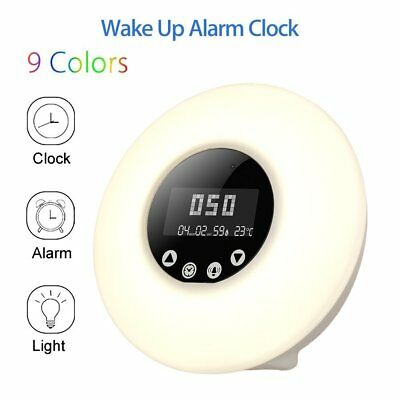 Alarm Clock Digital Snooze Radio Large Led Display