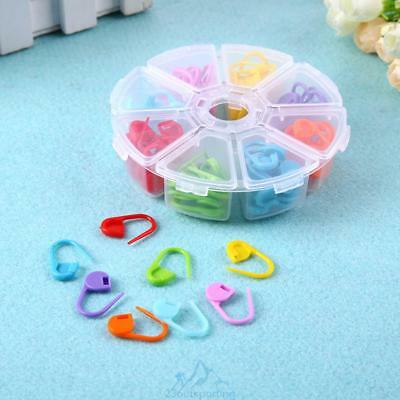 104pcs/Box 8 Colors Knitting Accessories Crochet Locking Stitch Markers Tools
