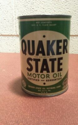 Quaker State Motor Oil ~ Advertising Quart Can ~