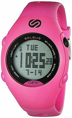 Soleus Mini Pink/Black GPS Activity/Calorie Tracker Watch with Integrated USB