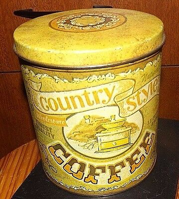 J.t. Putman Wholesome Country Style Coffee Antique Tin Can
