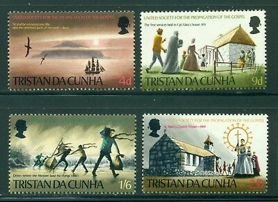 Tristan da Cunha Scott #128-131 MNH Islanders Church Religion Sunset Sailing $$