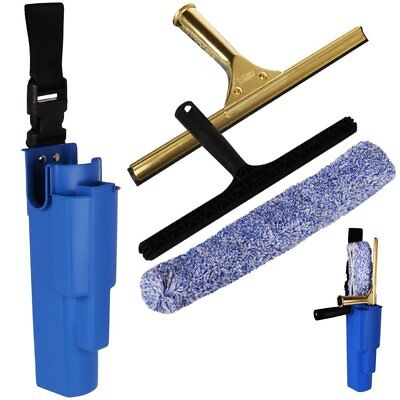 "10"" THE CHEMICAL HUT® Professional Window Cleaning Kit - Includes Brass Squeegee"