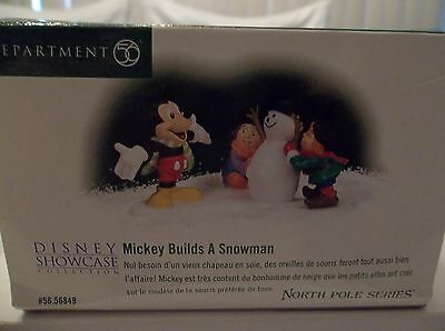 Department Dept 56 Disney Showcase Collection Mickey Builds A Snowman North Pole