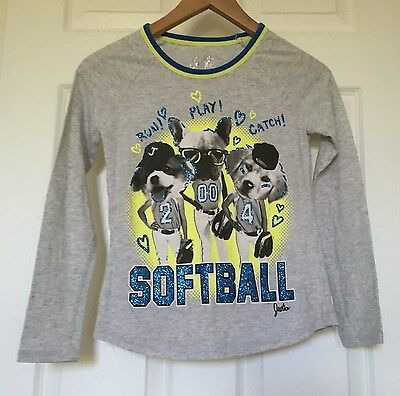 JUSTICE girls LONG SLEEVE TOP shirt size 10
