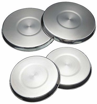 Black Vinod 4 STAINLESS STEEL METAL SILVER CHROME ELECTRIC COOKER HOB RING COVER LID SET Colour