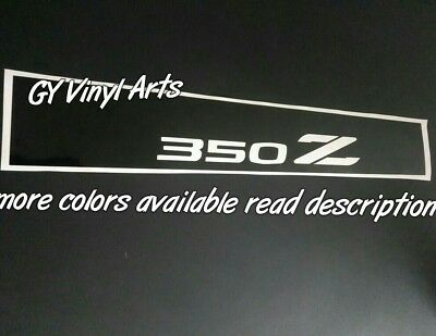 Nissan 350 Z Windshield Sun Visor Strip Banners Decals Stickers Window