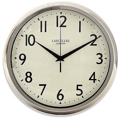 Chrome Wall Clock With Sweep Seconds Hand - 30cm