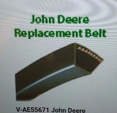 AE55671 Set of 4 Drive Belts for John Deere Disc Mower 265 275 112B N D F