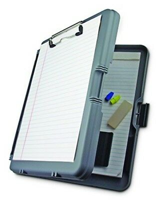 Saunders Contractor Clipboard Polypropylene Protective Holder Metal Doc Gray NEW