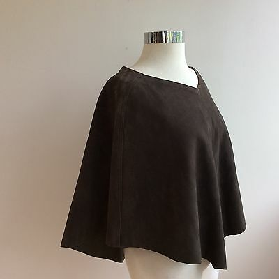 Leather Poncho One Size No Brand Name