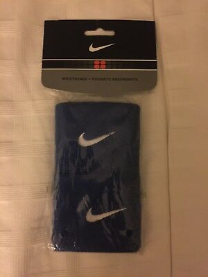 Nike New Mens Womens Unisex Wristbands Sweatbands Royal blue