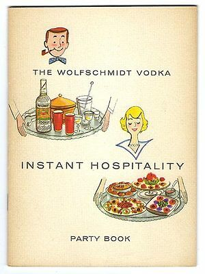Wolfschmidt Vodka INSTANT HOSPITALITY PARTY BOOK Illustrated