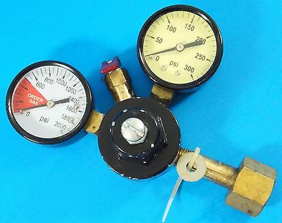 Vintage Double Dial Gas Pressure Regulator # 360-M Chudnow Mfg. Steampunk.