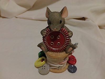 Charming Tails You're Cute As A Button 89/115 Red Button Rare Signed Griff(57)