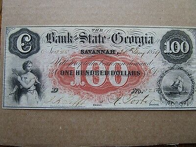 $100 Bank of the State of Georgia....great