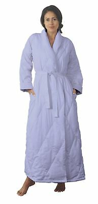 Warm Things Quilted Down Robe 550 Fill Power White Down, Cozy 100% Cotton Shell