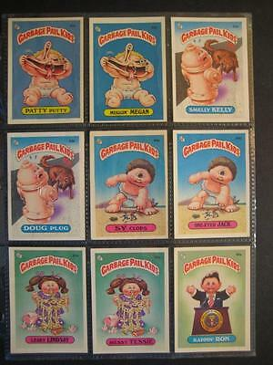 Garbage Pail Kids 2ND SERIES MESSY TESSIE BACKS WITH SOME SOFT CORNERS 84ct. SET