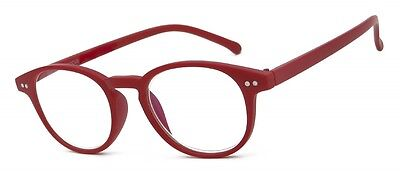 Computer/Reading/Gaming Blue Light and UV Blocking Glasses 0.00-2.50 - Red