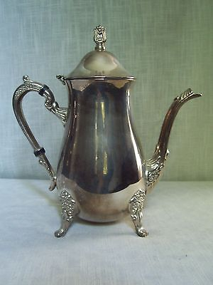 Vintage Silverplate Lidded Coffee Pot Footed