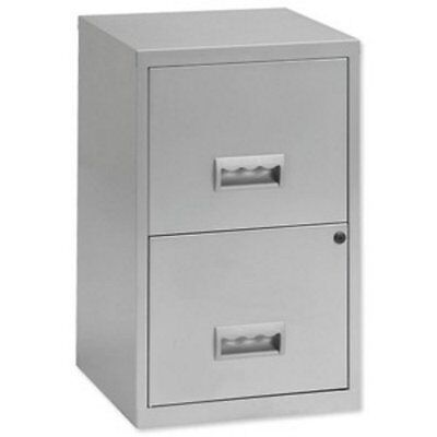 Pierre Henry Filing Cube Cabinet Steel Lockable 2 Drawers A4, Grey
