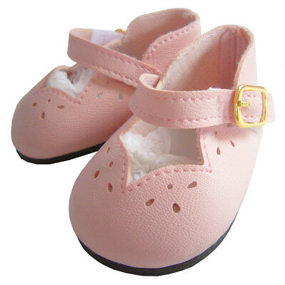 """Pink Scalloped Dress Shoes made for 18"""" American Girl Doll Clothes Sew Beautiful"""