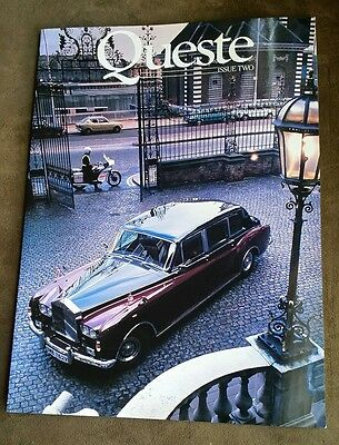 1984 Queste Magazine - Issue Two - Rolls Royce/ Bentley Owners Exclusive - Nice