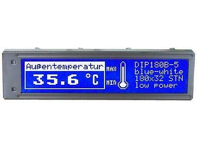 EADIP180B-5NLW Display LCD grafisch STN Positive 180x32 blaue LED