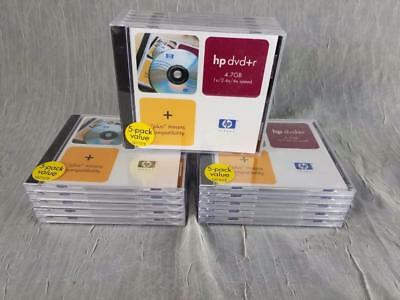 Lot 15 HP DVD+R Discs with Jewel Case 4.7gb up to 4x Speed Q2107E NEW