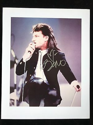 "Paul Hewson ""Bono"" Autograph - Hand Signed 8x10 Photo - Authentic"