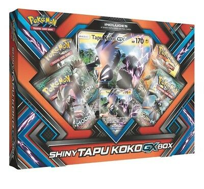 Pokemon TCG Shiny Tapu Koko GX Collection Box FREE EXPRESS POST SAME DAY / DELIV