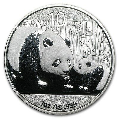 2011 Chinese Silver Panda Coin in Capsule - Authentic 1 oz