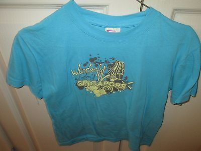 Blue Singapore Tee Shirt Size 7