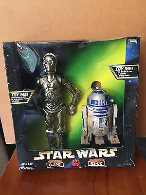 Star Wars Electronic Talking C-3PO & R2-D2 12 i Action Figure Set (1998 Hasbro).