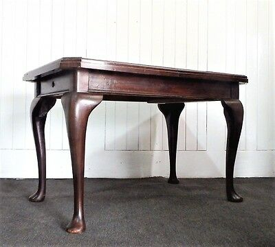 Antique Queen Anne style centre table - large occasional table - side  table