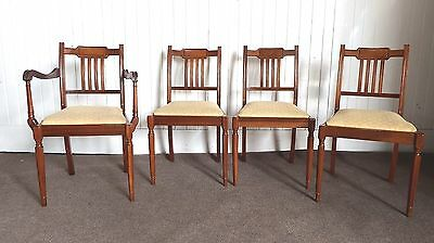 Antique style Regency set of 4 dining chairs