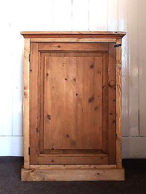 Antique style rustic farmhouse pine cupboard / cabinet