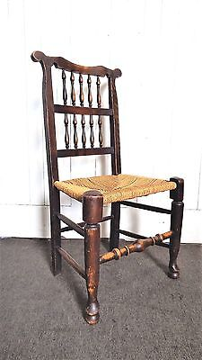 Antique vintage solid wood farmhouse dining kitchen chair / occasional chair
