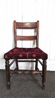 Antique vintage oak farmhouse bedroom chair / occasional chair