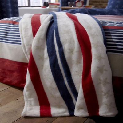 Catherine Lansfield Stars and Stripes Throw