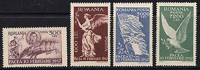 Romania 1947 Peace Complete set of Stamps Mint MNH