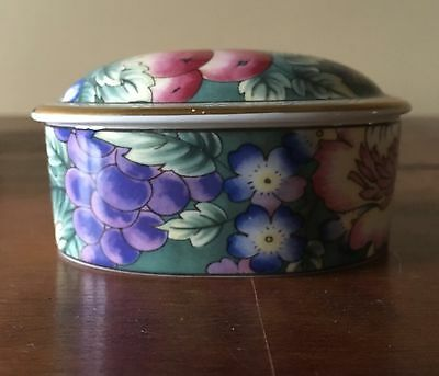 Royal Doulton Orchard Hill Bone China Oval Box Flower Design, England, NIB