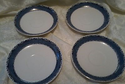 Burleigh Ware- Made In England-Collectors -Saucers (4)