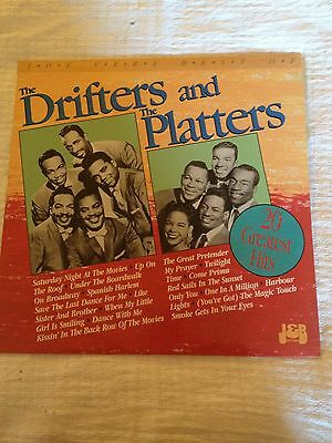 The very best of the Drifters and the Platters record LP