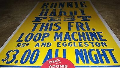 Ronnie Hardy Loop Machine Original 80s Chicago House Music Poster